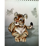 starting to color my tiger by nevaeh-lee