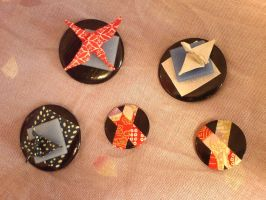 For SALE: Origami pins by cayra