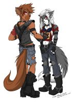Post Apocalyptic Cage and Cro by shadowpantherkat