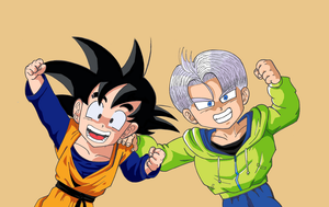Son Goten and Trunks color version by Przemekw