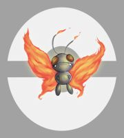 Fire / Flying Butterfree by JaBaVoX