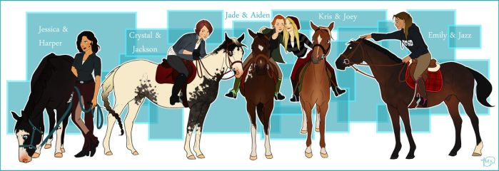 Horse and Rider Adopts: The Equestrian Team by WesternSpice