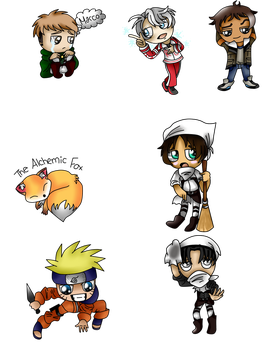 Chibi Examples Batch 2 by XxElectricBeautyxX