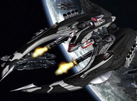 My Cylon Raider by xPUREVENOMx