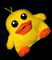 Crochet Ducky Plush Toy by rainbowdreamfactory