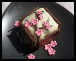 Sakura Tree Petit Four by CakeUpStudio