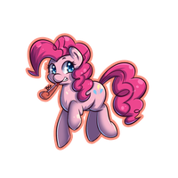 Sample Key chain paper Pinkie Pie by tikrs007