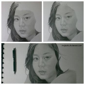 Uee - drawing wip part 3 by majaode