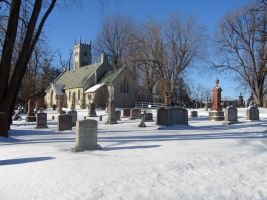 Cemetary Church and Trees by SweetSoulSister