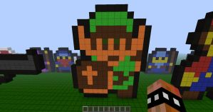 Minecraft Pixel Retro Link by REV3LATIONS