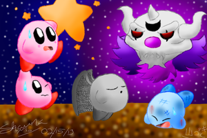 Atsumete! Kirby- Battle with Necrodeus by Galaxia34