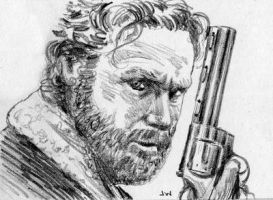 Rick from the Walking Dead Sketch Card by Stungeon