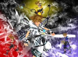 KH2: The Forms of Sora by ShiningLatios