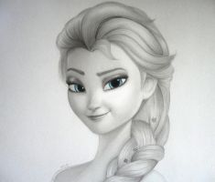 Queen Elsa by 8Bpencil