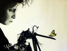Edward Scissorhands painting by amanda devillers by nandamicole