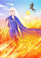 Daenerys the Unburnt by laurencskinner