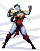 Female Colossus Commission by RedStarship