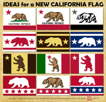 New California Flag Designs by SouthParkTaoist