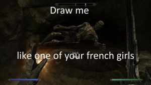 skyrim meme-draw me like one of your french girls by Synchro2323