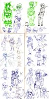 Sketches July '14 by Frey-ofthe-Arcane