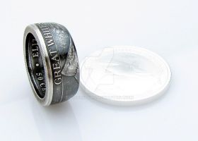 SILVER Great White Shark Coin Ring by TCSCustoms
