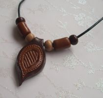 Brown necklace by PORGEcreations