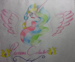 Celestia And Her Wings by XRainbowIceCreamX