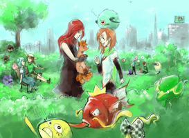 Pokemon RP : bounding time by Laureth-dk