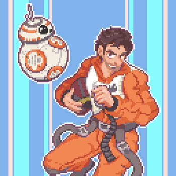 Poe Dameron and his BB8 by cloudcoole