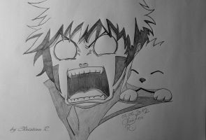 young Kiba and Akamaru by Monstacookie