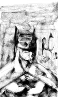 Batman Phone Sketch 2 by TheHypotheticalNerd