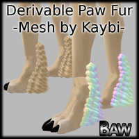 Derivable paw fur by lonelycard
