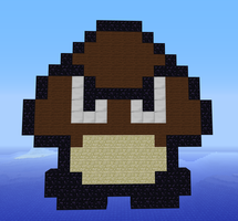 Minecraft Super Mario Goomba by exit1