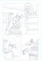 Looney Tunes comic pencil work by DaveAlvarez