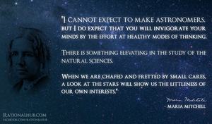 Maria Mitchell on science.. by rationalhub