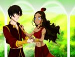 Prince Zuko and Katara Waltz by applejaxshii