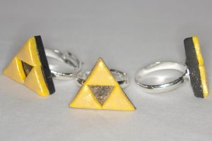 Triforce Rings by LadySashaviv