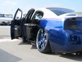 Blue and White Charger 3 by KateKannibal