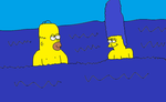 Homer and Marge Skinny Dipping by Simpsonsfanatic33