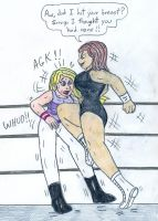 Wrestling - Bonnie Rockwaller vs Camille Leon by Jose-Ramiro