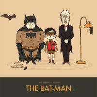 Wes Anderson Presents The Bat-Man by paperbeatsscissors