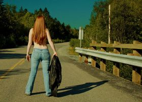 hitch hiker by Trihesta