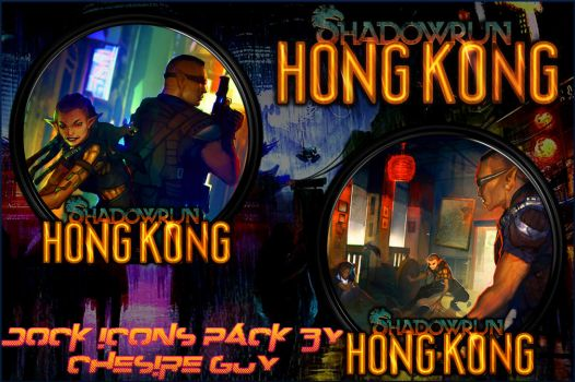 Shadowrun: Hong Kong Dock Icons Pack by courage-and-feith