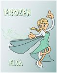 rubberhose FROZEN Elsa by JK-Antwon