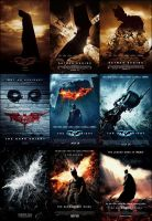 Dark Knight Trilogy Teaser and Theatrical Posters by EspioArtwork31