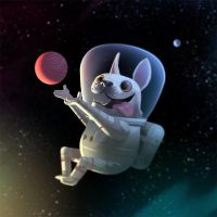Astro Pup by bearmantooth