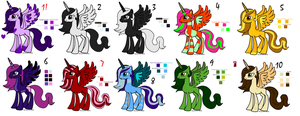 Alicorn adopts varying prices 1 left by woofwoofsg1