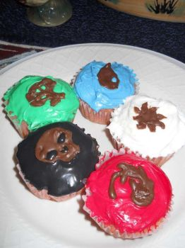 Magic the Gathering cupcakes by Melrainbow