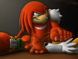 Knuckles - Red Mist by RipRoarRex