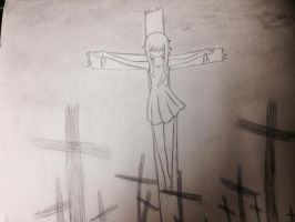 The witch's crucifixion by apocalyptic-senses